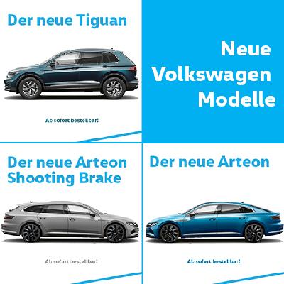 Der neue Tiguan, Arteon und Arteon Shooting Brake
