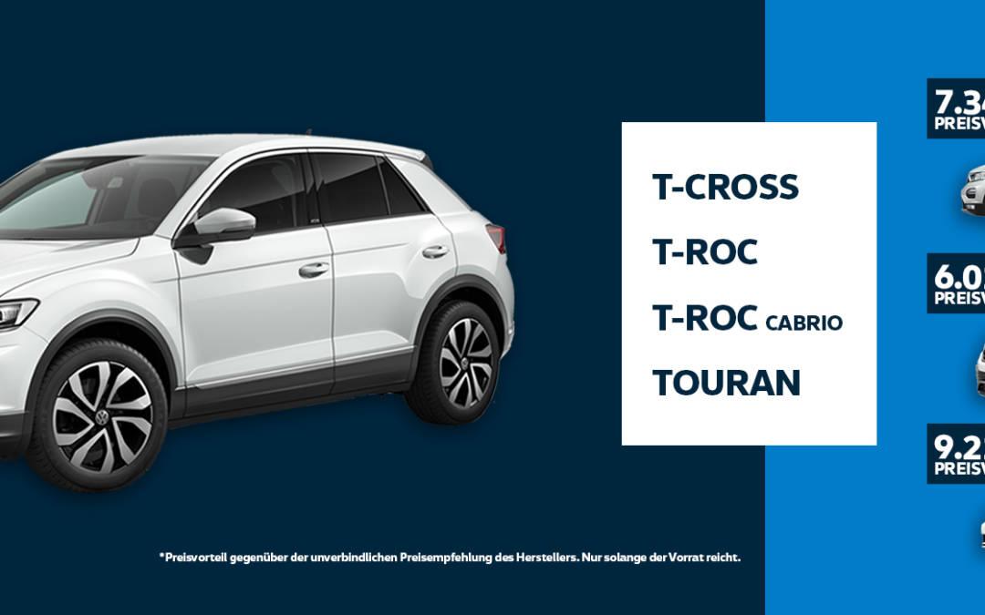 T-CROSS • T-ROC • TOURAN • Summer-Deals