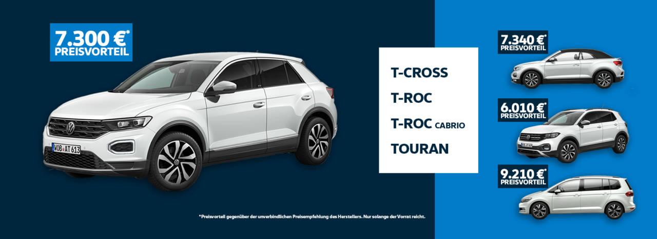 T-Cross T-Roc T-Roc Cabrio Touran Summer-Deals